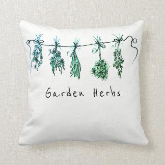 Cojín Decorativo Tonalidad verde de las hierbas del jardín