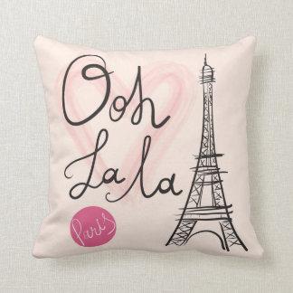 Cojín Decorativo Torre Eiffel dibujada mano