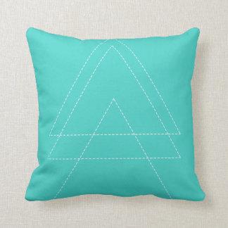 Cojín Decorativo Triángulo moderno azul brillante