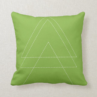 Cojín Decorativo Triángulo moderno del verdor