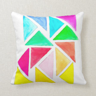 Cojín Decorativo Triángulos del arco iris