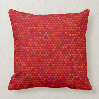 Cojín Decorativo Triángulos - rojo