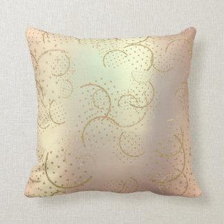 Cojín Decorativo Un rosa más astuto del oro de la perla se ruboriza