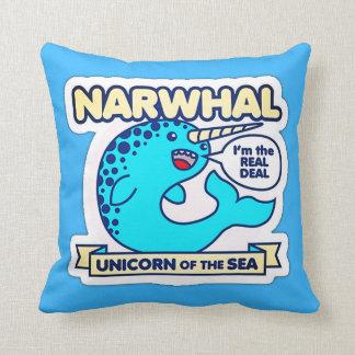 Cojín Decorativo Unicornio de Narwhal del mar