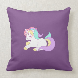 Cojín Decorativo Unicornio lindo del arco iris
