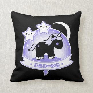 Cojín Decorativo Unicornio negro lindo