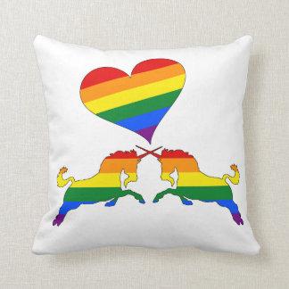 Cojín Decorativo Unicornios del arco iris