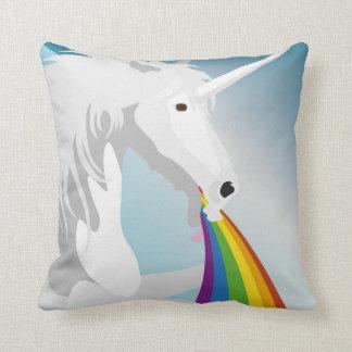 Cojín Decorativo Unicornios puking del ejemplo
