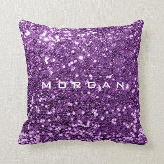 Cojín Decorativo Uva púrpura violeta de la lentejuela de la moda
