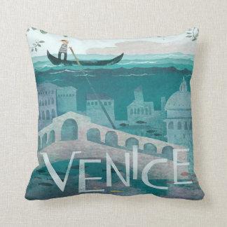 Cojín Decorativo vacaciones del viaje de la góndola de Venecia