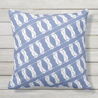 Cojín Decorativo Veleros azules y blancos al aire libre