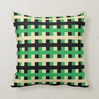 Cojín Decorativo Verde abstracto, beige y negro