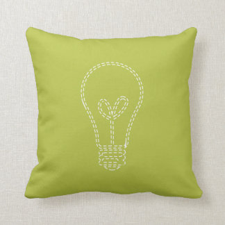 Cojín Decorativo Verde claro, bombilla