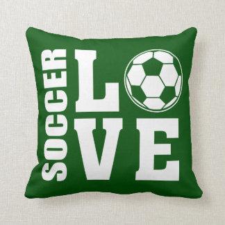 Cojín Decorativo Verde del amor del softball