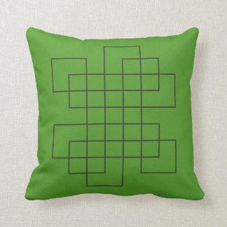 Cojín Decorativo Verde del laberinto
