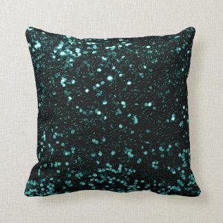Cojín Decorativo Verde verde azulado de Cali de la lentejuela