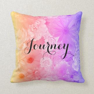 Cojín Decorativo Viaje floral en colores pastel de Boho de las