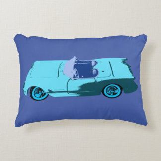 Cojín Decorativo Vintage Chevy en azules