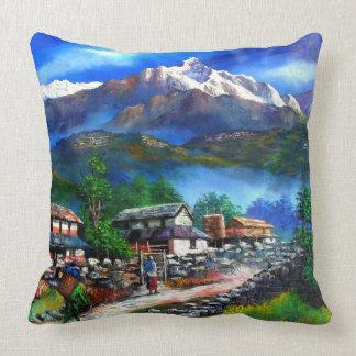 Cojín Decorativo Vista panorámica de la montaña Nepal de Everest