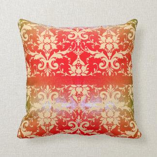 Cojín Decorativo Voluta roja brillante del vintage