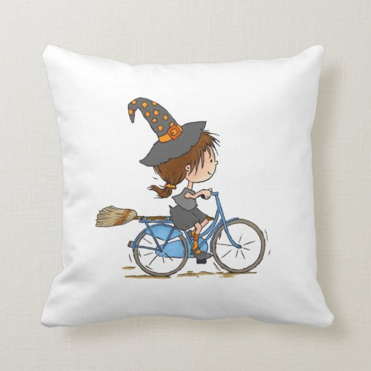 Cojín Decorativo Witch in bike pillow