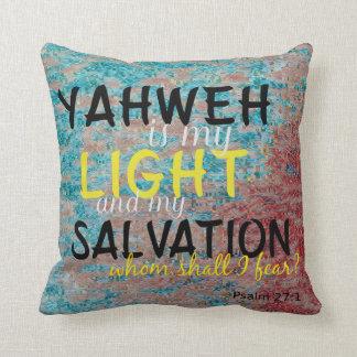 Cojín Decorativo Yahweh cristiano es mi luz y mi salvación