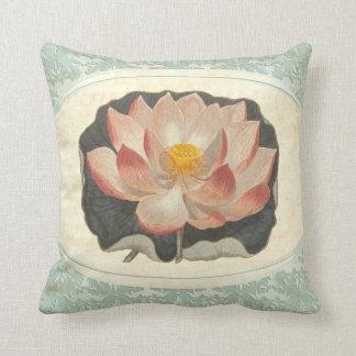Cojín Decorativo Yoga botánica lamentable del flor de Lotus del