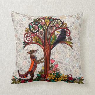 Cojín Decorativo zorro y cuervo