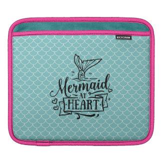 cojín del iPad - sirena en el corazón Funda Para iPads