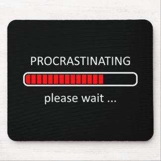 Cojín del ratón del videojugador - procrastinando alfombrilla de ratón