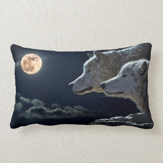 Cojín Lumbar Amortiguador del Lumbar del lobo del claro de luna