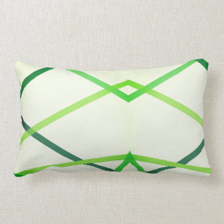 Cojín Lumbar Amortiguador geométrico verde