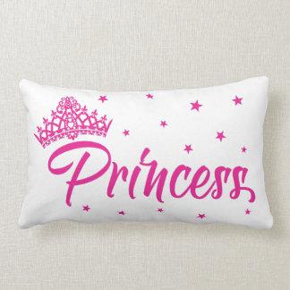 Cojín Lumbar Amortiguador rosado de la princesa con la tiara