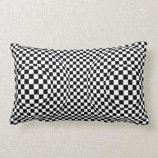 Cojín Lumbar Art déco blanco y negro moderno