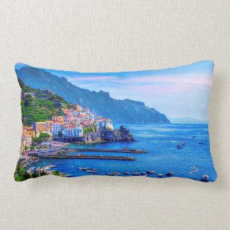 Cojín Lumbar Arte colorido de la foto de Amalfi Italia