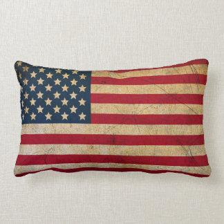 Cojín Lumbar Bandera americana los E.E.U.U. del vintage del
