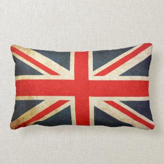 Cojín Lumbar BANDERA de Union Jack Reino Unido del Grunge del