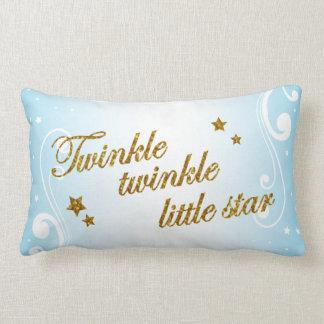 Cojín Lumbar Centelleo, centelleo poca estrella - azul cielo