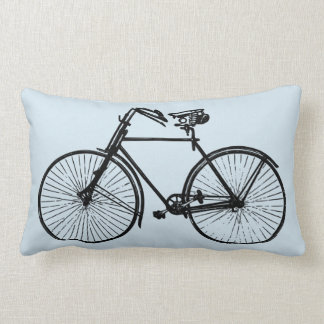 Cojín Lumbar cielo azul de la bici de la bicicleta de tiro de