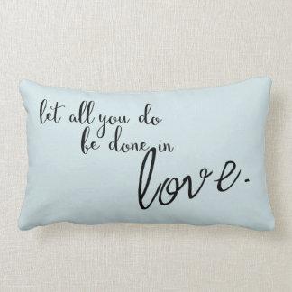 Cojín Lumbar Deje todos lo que le hacen en cita del amor