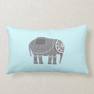 Cojín Lumbar Diseño adornado gris elegante del elefante