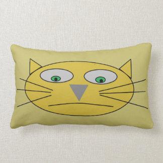 Cojín Lumbar Diseño infantil del dibujo de la cara del gato