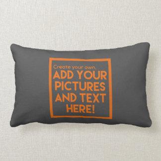 Cojín Lumbar DIY - ¡Almohadas de tiro!   ¡Añada el texto y las