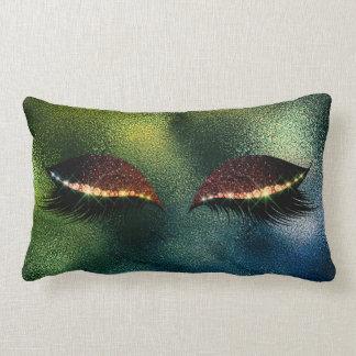 Cojín Lumbar El brillo tropical del sueño del vidrio verde