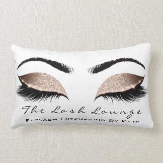 Cojín Lumbar El maquillaje atractivo del purpurina blanco color