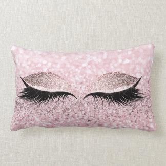 Cojín Lumbar El ojo negro del maquillaje del brillo azota el