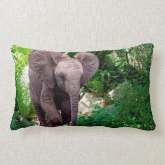 Cojín Lumbar Elefante y selva