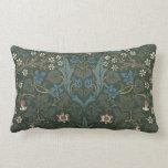 Cojín Lumbar Endrino de William Morris del vintage