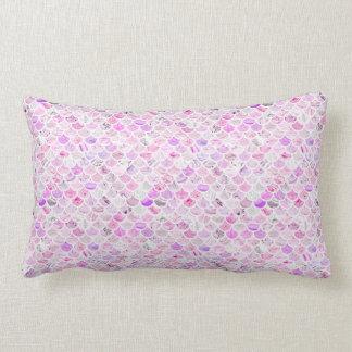 Cojín Lumbar Escalas de mármol rosadas y púrpuras de la sirena