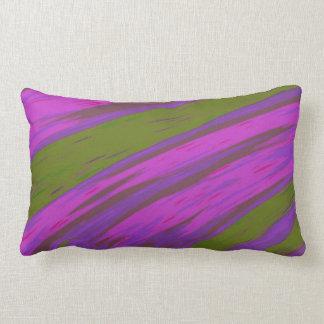 Cojín Lumbar Extracto moderno del chasquido del color púrpura y